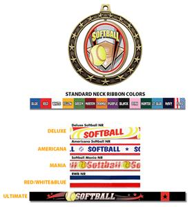 Hasty Awards Softball Spinner Medals M-7701
