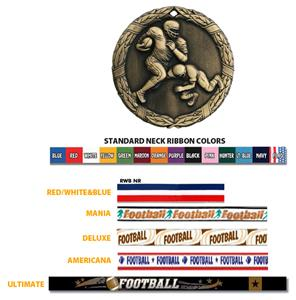 Hasty Awards Football Medals M-300F
