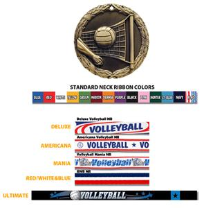 Hasty Awards Volleyball medal M-300V