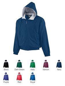 Augusta Youth Hooded Taffeta Lined Fleece Jacket