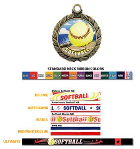 Hasty Awards Softball HD Insert Medals M-8501