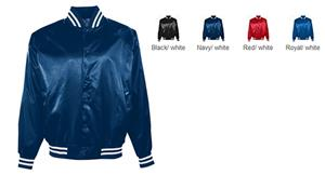 Augusta Youth Satin Baseball Jacket/Striped Trim - Soccer ...