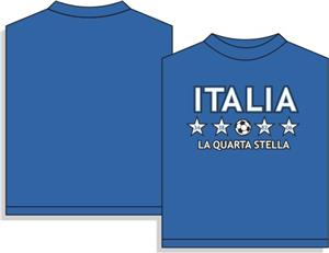 Utopia Soccer Italy Fourth Star T-shirt