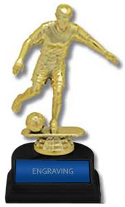 "Soccer Male Figure 6"" Participation Trophies Award"