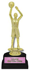 "Basketball Female Figure 6"" Participation Trophies"