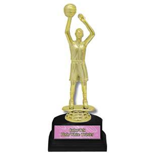 "Basketball Female Figure 6"" Participation Trophies"