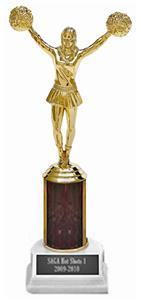 Hasty Award Cheerleader Flowing Lava Column Trophy