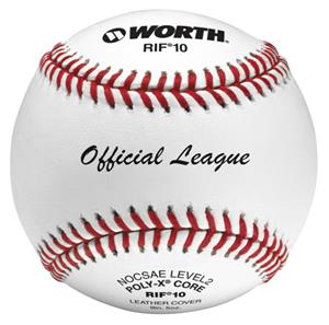 "Worth 9"" RIF 10 Official League Leather Baseballs"