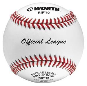 "Worth 9"" RIF 10 Official League Leather Baseballs"