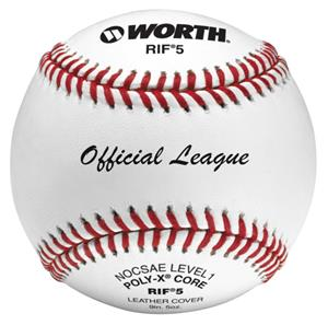 "Worth 9"" RIF 5 Official League Leather Baseballs"