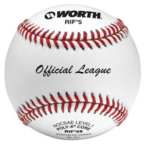 "Worth 9"" RIF 5 Official League Synthetic Baseballs"