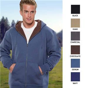Vos Men's Full Zip  Sherpa Lining Hoodie
