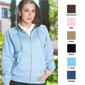 Vos Ladies Full Zip Sherpa Lining Hoodie