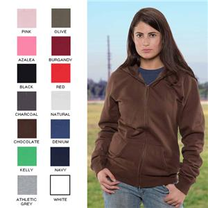 Vos Ladies Full Zip Hooded Sweat Shirt Lt. Weight