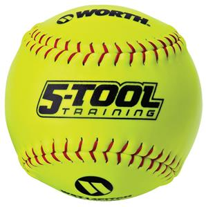 "Worth 5-Tool 14"" Pitcher's Training Softballs"