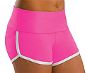 Low Rise Roll Top Fuchsia Cheerleaders Shorts