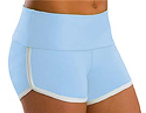 Low Rise Roll Top Light Blue Cheerleaders Shorts