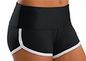 Low Rise Roll Top Black Cheerleaders Shorts