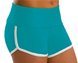 Low Rise Roll Top Teal Cheerleaders Shorts