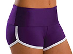 Low Rise Roll Top Ultraviolet Cheerleaders Shorts