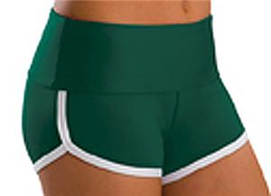 Low Rise Roll Top Hunter Green Cheerleaders Shorts