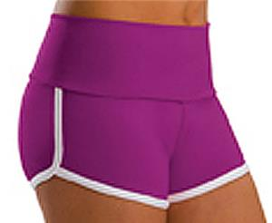 Low Rise Roll Top Raspberry Cheerleaders Shorts