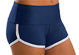 Low Rise Roll Top Navy Cheerleaders Shorts
