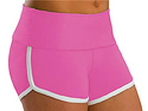 Low Rise Roll Top Candy Pink Cheerleaders Shorts
