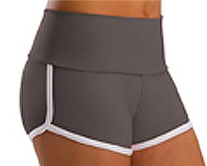 Low Rise Roll Top Shadow Grey Cheerleaders Shorts
