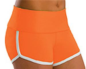 Low Rise Roll Top Orange Cheerleaders Shorts