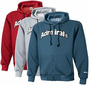 CLOSEOUT-Admiral Vintage Full Zip Hoodies