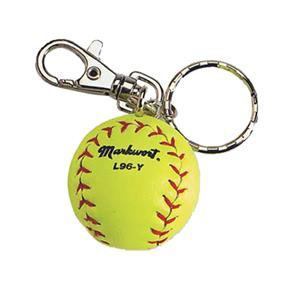 Markwort Yellow Softball/Baseball Keychains