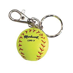 Markwort Yellow Softball Keychains