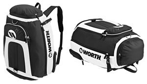 Baseball/Softball White Player Backpack/Duffel Bag