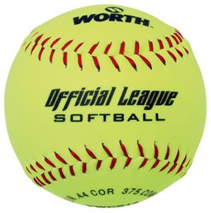 "Worth 12"" Official League Dura-Hyde Softballs"
