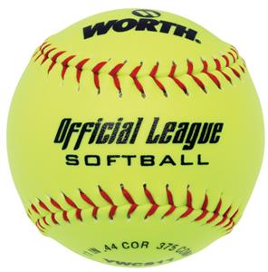 "Worth 11"" Official League Dura-Hyde Softballs"