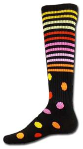 Red Lion Black Stripes & Spots Athletic Socks