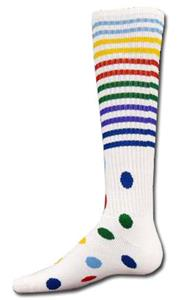 Red Lion White Stripes & Spots Athletic Socks
