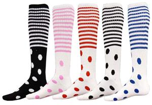 Red Lion Dots &amp; Stripes Athletic Socks