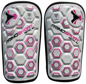 Retro Hex White/Pink Soccer Shinguards Closeout