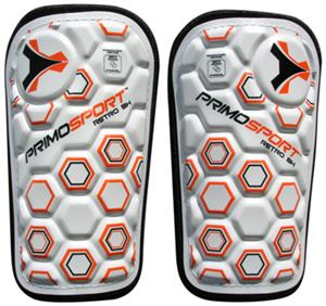 Primo Retro Hex Orange Soccer Shinguards Closeout