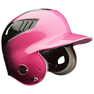 Coolflo Pink 2-Tone Youth Baseball Batting Helmets