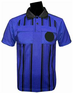 New Style Soccer Referee Jersey Short Sleeve-ROYAL
