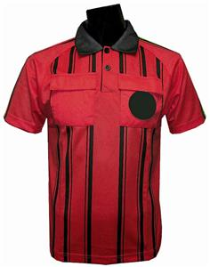 New Style Soccer Referee Jersey Short Sleeve-RED