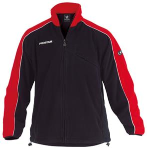 Primo Polar Fleece Zip Black/Red Jacket Closeout