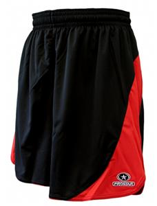Primo Womens Black/Scarlet Sparta Shorts Closeout