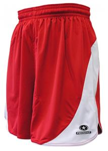 Primo Womens Scarlet/White Sparta Shorts Closeout