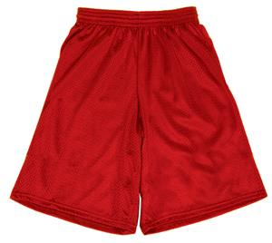 Athletic Cut 9&quot; Mesh Basketball Shorts