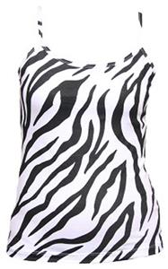 Womens Zebra Print Spaghetti Strap Practice Camis