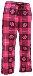 Boxercraft Womens Fashion Paw Print Flannel Pants
